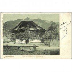 SUISSE. Bernerhaus Haus zum Kühlen Wein Interlaken 1908