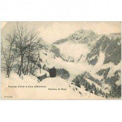 SUISSE. Rochers de Naye à Caux sur Montreux train 1906