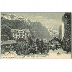 SUISSE. Lauterbrunnen Hôtel Pension Staubbach 1906
