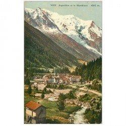 SUISSE. Argentière et le Mont Blanc Montblanc