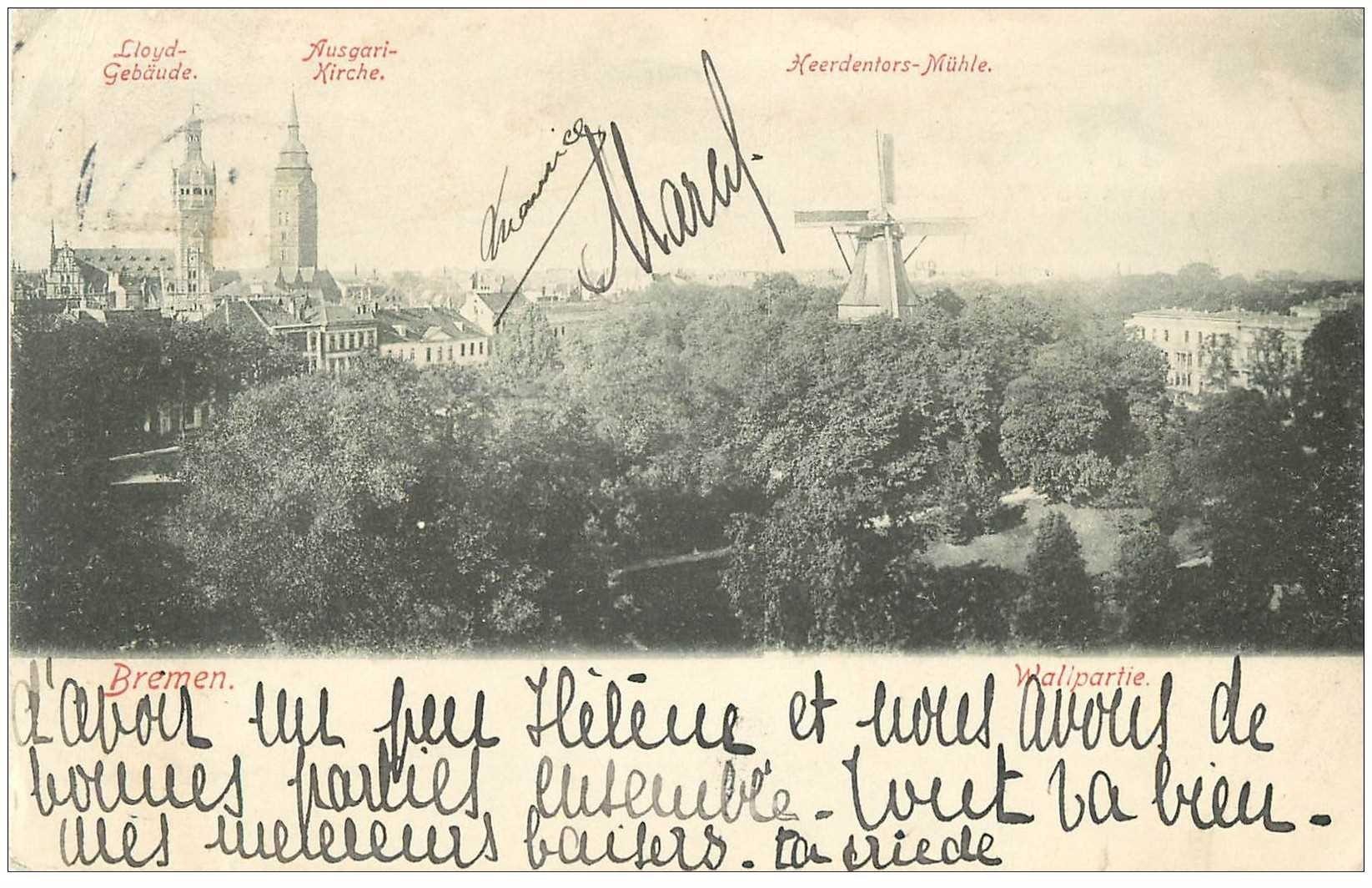 SUISSE. Bremen 1906 carte déliassée mais rien de grave...