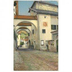 Suisse. Altes Tor in Zuoz édition Künzli
