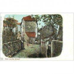 Suisse. Case vecchie ticinesi vers 1900