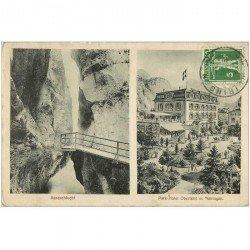 Suisse. Aareschlucht Park Hotel Oberland in Meiringen 1917