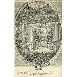 carte postale ancienne 14 DEAUVILLE. La Salle des Spectacles du Casino