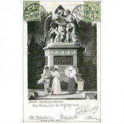 Suisse. BASEL BALE. Strassburger Denkmal 1904