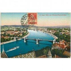 Suisse. BASEL BALE. Blick vom Münster Rheinaufwärts 1925