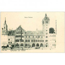 Suisse. BASEL BALE. Neues Rathaus vers 1900