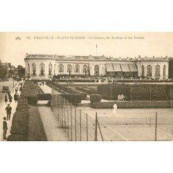 carte postale ancienne 14 DEAUVILLE. Plage Tennis Casino et Jardins