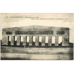 carte postale ancienne 02 SAINT-QUENTIN. Monuments aux Mort