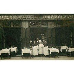 69 LYON CROIX ROUSSE. Hôtel Restaurant Laroche. Photo carte postale ancienne 1919