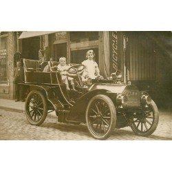 92 LEVALLOIS PERRET. Vpoiture ancienne devant Hôtel Lafayette 23/25 rue de Courcelles. Photo carte postale ancienne