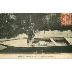 """78 ANDRESY DENOUVAL. Pêcheur le Père """" La Brême """" 1917"""