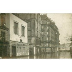 PARIS V. Tonnellerie Bellonte 14 rue des Fosses Saint-Bernard. Photo carte postale ancienne inondations 1910