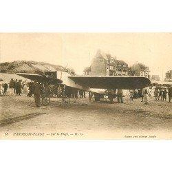 62 HARDELOT. Avion Aéroplane sur la Plage