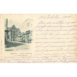 35 RENNES. Eglise Saint-Germain et Vieilles Maisons 1900