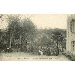35 RENNES. Rare Terrasse Restaurant d'Armenonville route de Vezin vers 1920