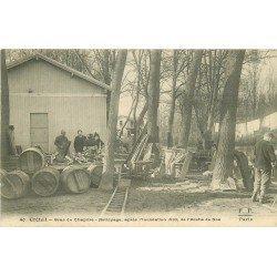 94 CRETEIL. Nettoyage après inondation de 1910 du Café l'Arche dcde Noé. Bras du Chapitre