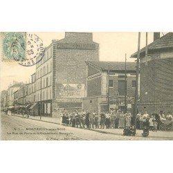 93 MONTREUIL-SOUS-BOIS. La Cristallerie Rue de Paris 1905 sortie des Employés