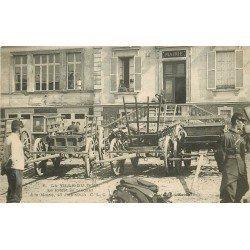 91 LA VILLE-DU-BOIS. Le Préfet se rendant à la Mairie en 1905