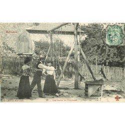 92 LE PLESSIS ROBINSON. Jeu ancien dit une Partie de Tonneau. Collection Fleury 1903
