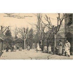 94 VILLECRESNES. Auberge Restaurant maison Fouque. Employés dans Les Bosquets 1913