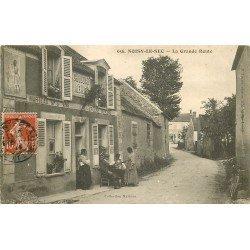 93 NOISY-LE-SEC. Epicerie Mercerie Marteau sur la Grande Rue 1914