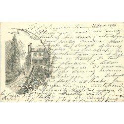 35 RENNES. La Vassée ou la Vallée. Carte style parchemin dentelée à la ficelle 1904
