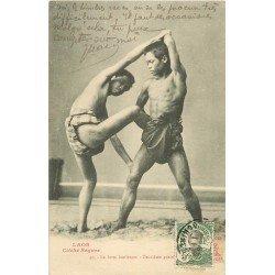 LAOS. La lutte laotienne deuxième position vers 1911