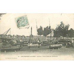 carte postale ancienne 17 ROCHEFORT-SUR-MER. Arsenal Terre-plein de l'Artillerie