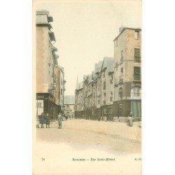 35 RENNES. Belle animation Rue Saint-Michel vers 1900