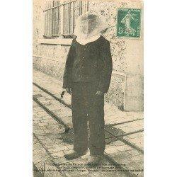 94 FRESNES. Uniforme de Prison avec capuchon en étamine vers 1908