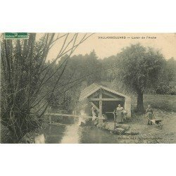 95 VALLANGOUJARD. Lavandières Laveuses au Lavoir de l'Arche 1909
