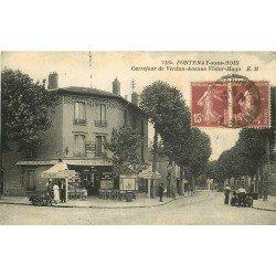 94 FONTENAY-SOUS-BOIS. Tabac Au Canon de Verdun Carrefour Verdun et Avenue Victor-Hugo 1922