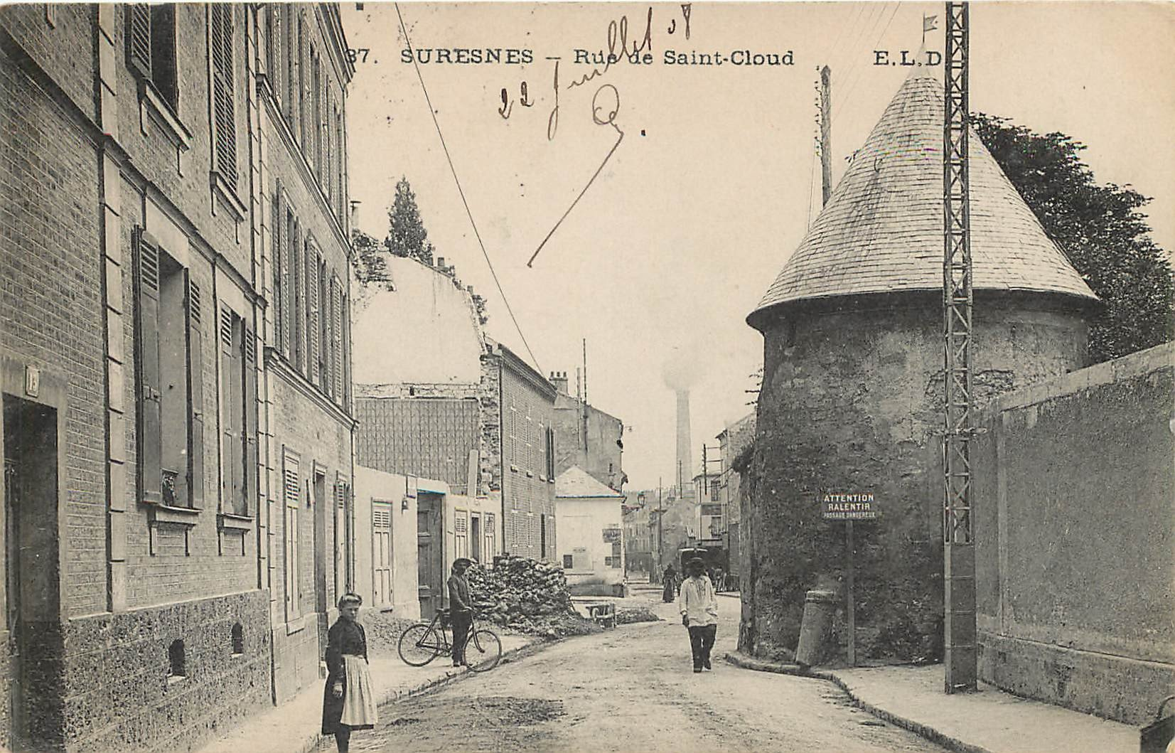 92 SURESNES. Rue de Saint-Cloud 1908
