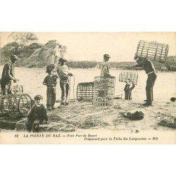 29 PETIT PORT DE BESTRE. Préparatif pour la Pêche des Langoustes 1931