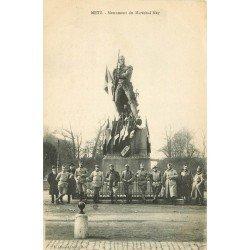 57 METZ. Monument Maréchal Ney Militaires et Soldats 1919