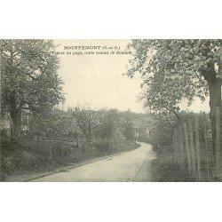 95 BOUFFEMONT. Entrée du pays Route dfe Domont vers 1918