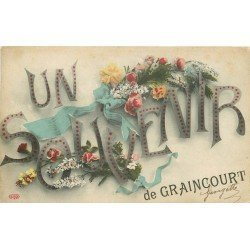 62 GRAINCOURT. Un Souvenir carte fantaisie 1908
