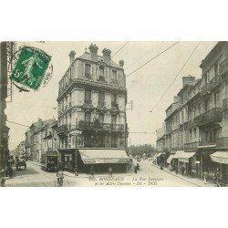 33 BORDEAUX. Tramway rue Judaïque et Allées Damour 1914