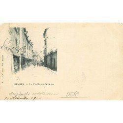 35 RENNES. La Vieille rue Saint-Malo 1900