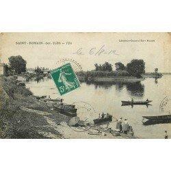 71 SAINT-ROMAIN-DES-ILES. Lavandières et Canoteurs 1912