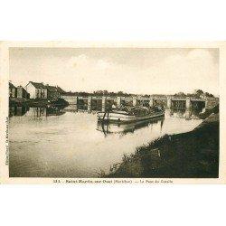 56 SAINT-MARTIN-SUR-OUST. Péniche près du Pont Dugesclin du Gesclin