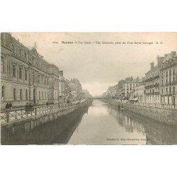 35 RENNES. Les Quais vue prise du Pont Saint-Georges 1907