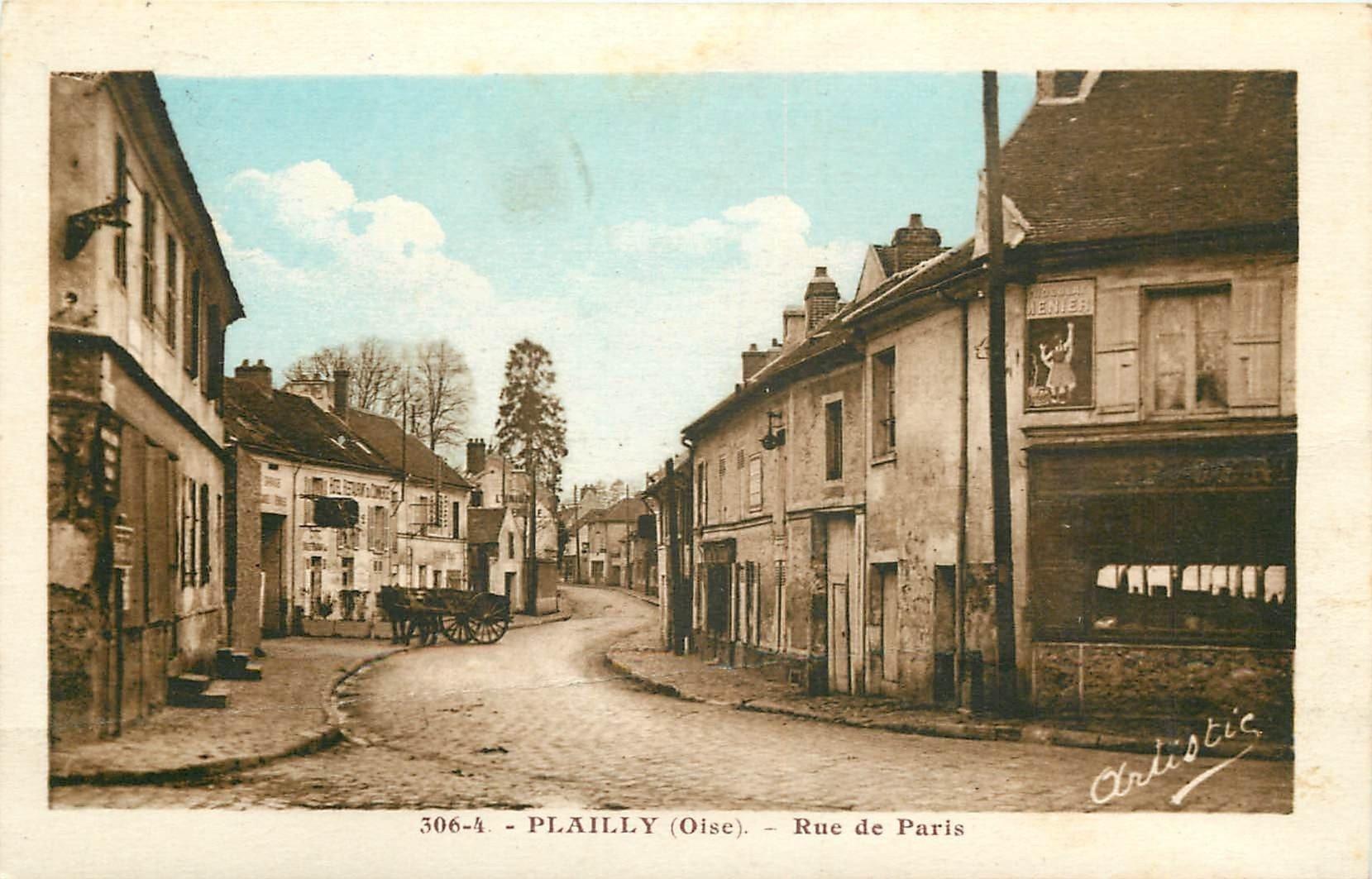 60 plailly h tel restaurant du commerce rue de paris 1937 - Frais de port gratuit rue du commerce ...