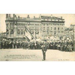 76 LE HAVRE. Fête Franco Belges avec Drapeau des Mutilés et anciens Combattants 1924