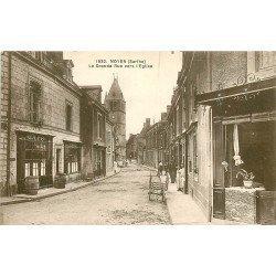 72 NOYEN. Boucherie et Café David sur la Grande Rue vers l'Eglise