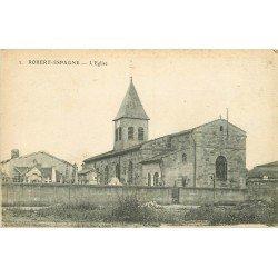 55 ROBERT ESPAGNE. L'Eglise 1918 et le Cimetière