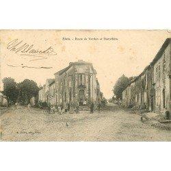 55 ETAIN. Animation Route de Verdun et Damvillers vers 1911