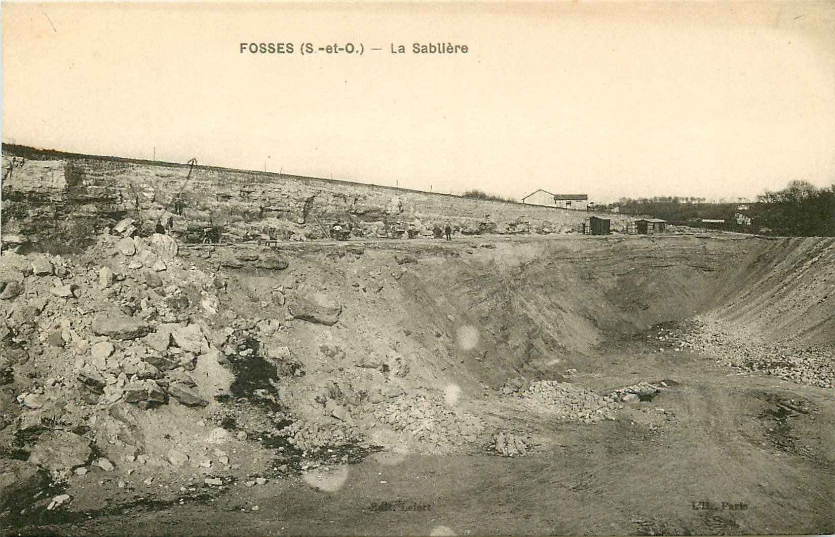 95 FOSSES. La Sablière 1932 Mines et Calcaire